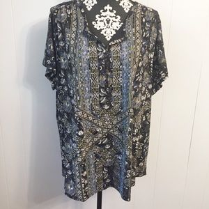Lucky Brand Top NWT Top Size 3 XL Short Sleeves